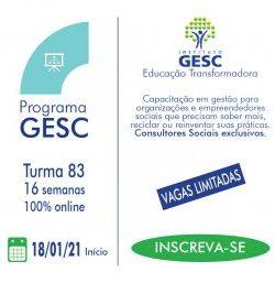programa gesc 83 inscricoes